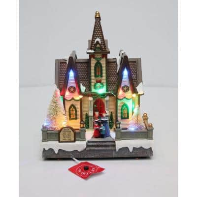 9.0 in. LED Lighted Church
