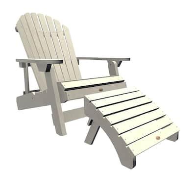 King Hamilton Whitewash 2-Piece Recycled Plastic Outdoor Seating Set