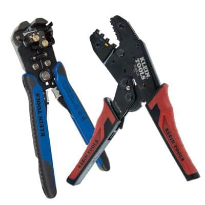 Wire Stripper and Ratcheting Crimper Tool Set (2-Piece)