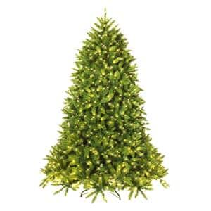 7.5 ft. Pre-Lit LED Slim Fraser Fir Artificial Christmas Tree with 8 Flash Mode
