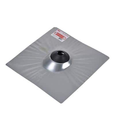 No-Calk 18 in. x 18 in. Galvanized Steel Drip Edge Vent Pipe Roof Flashing with 2 in. Diameter