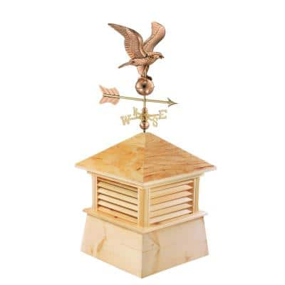 Kent 26 in. x 26 in. x 56 in. Wood Cupola with Cottage Eagle