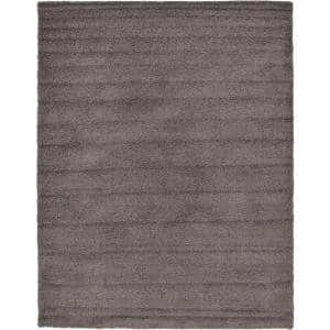 Solid Shag Graphite Gray 10 ft. x 13 ft. Area Rug