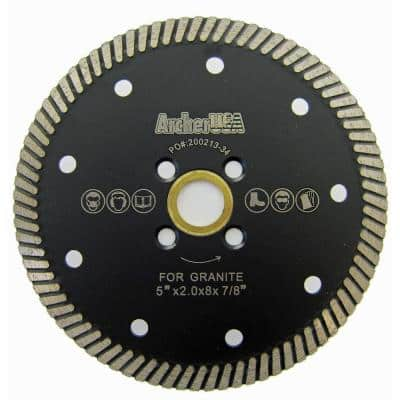 5 in. Narrow Turbo Diamond Blade for Granite Cutting