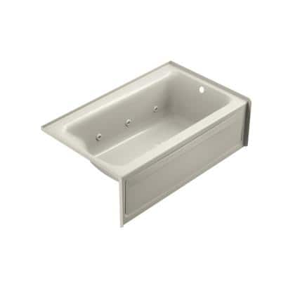 PROJECTA 60 in. L x 36 in. W Acrylic Right Drain Rectangular Alcove Whirlpool Bathtub with Heater in White