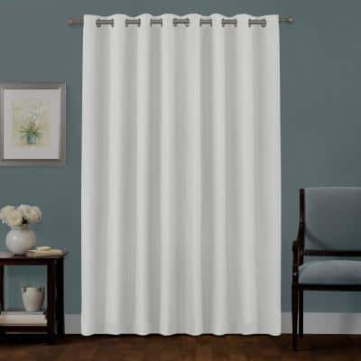 Bleached Linen Woven Thermal Blackout Curtain - 50 in. W x 84 in. L