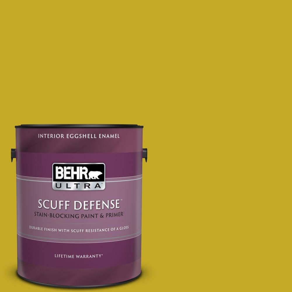 Behr Ultra 1 Gal Home Decorators Collection Hdc Md 03 Citronette Extra Durable Eggshell Enamel Interior Paint Primer 275301 The Home Depot