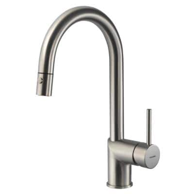 Vitale Single-Handle Pull Down Sprayer Kitchen Faucet with CeraDox Technology in Brushed Nickel