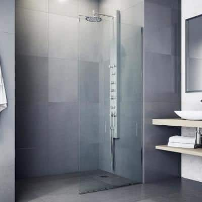 Dilana 67 in. 6-Jet High Pressure Shower Panel System with Fixed Rainhead and Handheld Dual Shower in Stainless Steel