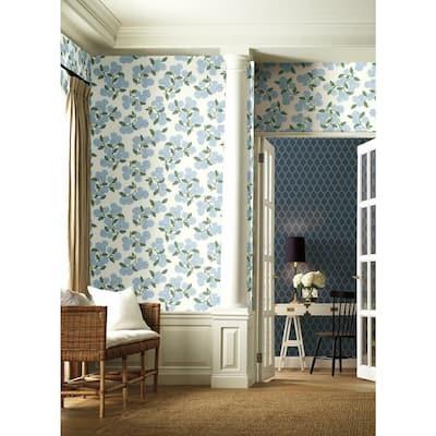 60.75 sq. ft. Hydrangea Wallpaper