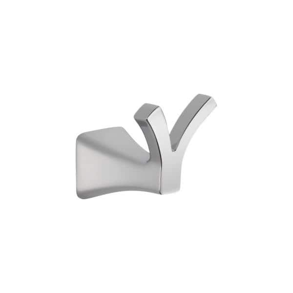 Delta Tesla Double Towel Hook In Chrome 75235 The Home Depot