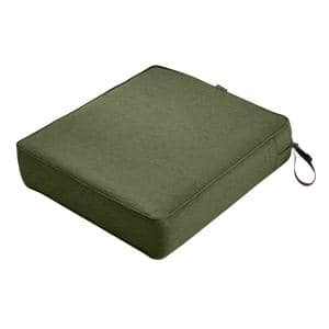 Montlake Heather Fern Green 25 in. W x 27 in. D x 5 in. Thick Outdoor Lounge Chair Cushion