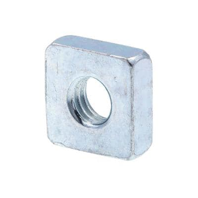 #10-32 Zinc Plated Steel Square Nuts (10-Pack)