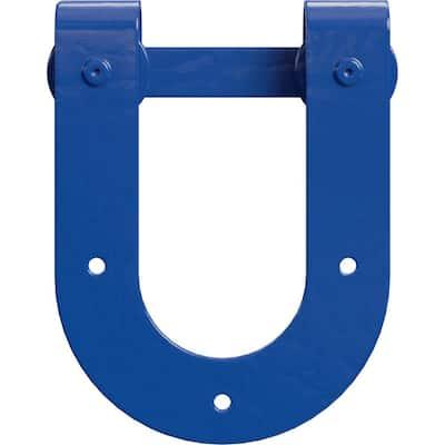 1-1/2 in. x 8 in. x 10-3/4 in. Steel Premium Horseshoe Roller Hanger Moulding Blue Ribbon