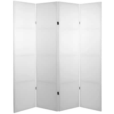 6 ft. White 4-Panel Blank Canvas Room Divider