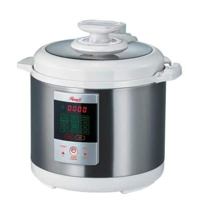 7-in-1 Multi-Function 6.3 Qt. White Stainless Steel Electric Pressure Cooker