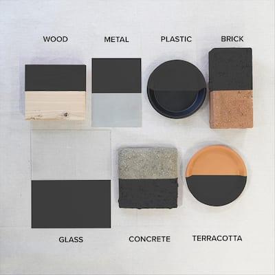 12 oz. Black Flat Interior/Exterior Spray Paint and Primer in One Aerosol