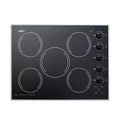 27 in. Radiant Electric Cooktop in Black with 5 Elements