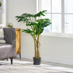Benoit 4 ft. Green Artificial Monstera Tree