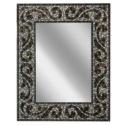 22 in. W x 28 in. H Frameless Rectangular Bathroom Vanity Mirror in Espresso