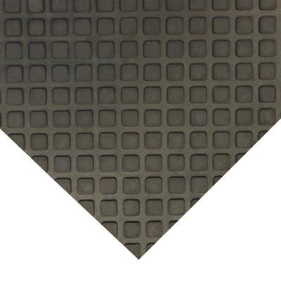 Maxx-Tuff 1/2 in. x 36 in. x 48 in. Black Heavy Duty Rubber Floor Protection Mat