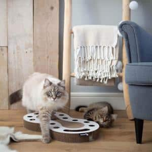 Snake White Cardboard Cat Scratcher