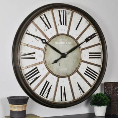 29 in. Roman Oil Rubbed Bronze Wall Clock