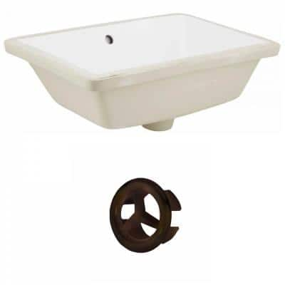 16-Gauge-Sinks 18.25 in. Undermount Bathroom Sink in White