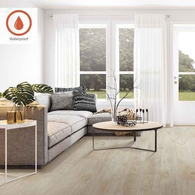 Outlast+ 7.48 in. W Chalked Abiding Pine Waterproof Laminate Wood Flooring (19.63 sq. ft./case)