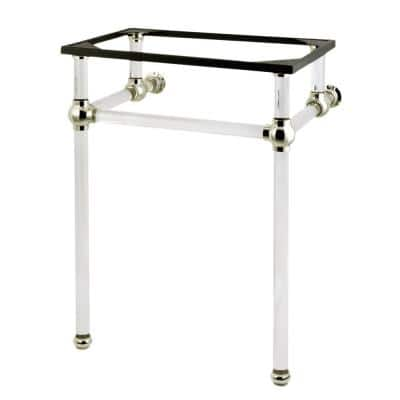 Templeton 24 in. Acrylic Console Sink Legs in Polished Nickel