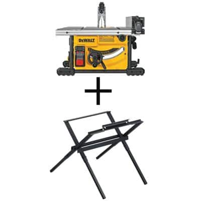 15 Amp Corded 8-1/4 in. Compact Jobsite Tablesaw with Bonus Compact Table Saw Stand