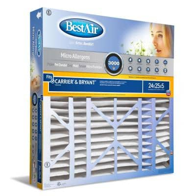 24 x 25 x 5 Carrier/Bryant FPR 10 Air Cleaner Filter