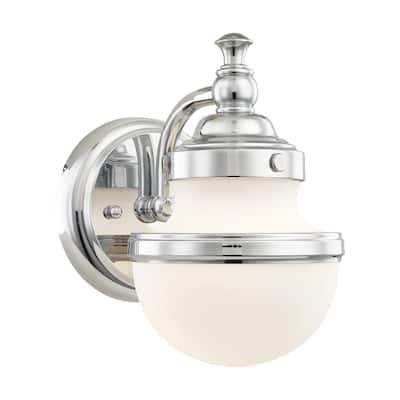 Oldwick 1 Light Polished Chrome Bath Vanity