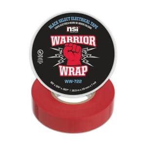 WarriorWrap Select 3/4 in. x 60 ft. 7 mil Vinyl Electrical Tape, Red