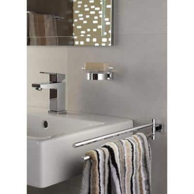Essentials Cube 18 in. Double Towel Bar in StarLight Chrome