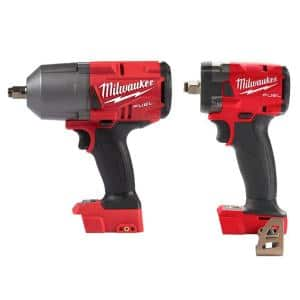 M18 FUEL 18-Volt Lithium-Ion Brushless Cordless 1/2 in. Impact Wrench with Compact Impact Wrench (2-Tool)