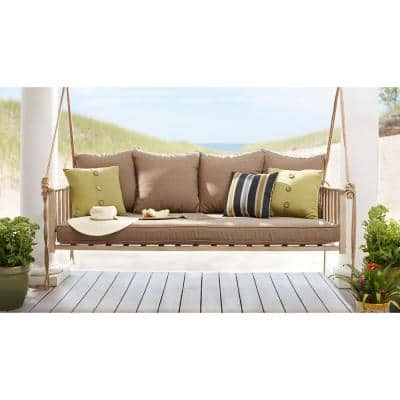 Cane A-Frame Outdoor Patio Swing