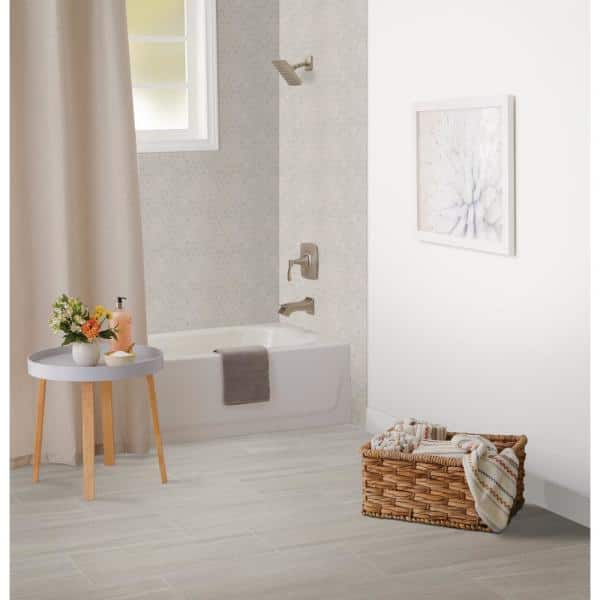 Home Decorators Collection Nova Falls Gray 12 In X 24 In Porcelain Floor And Wall Tile 15 6 Sq Ft Case Np101224hd1p6 The Home Depot