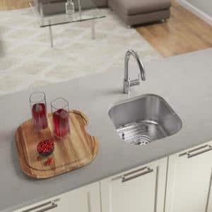 Stainless Steel 16 in. Undermount Bar Sink with Additional Accessories
