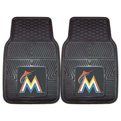 Miami Marlins 18 in. x 27 in. 2-Piece Heavy Duty Vinyl Car Mat