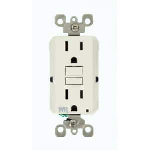 15 Amp SmartlockPro Weather Resistant GFCI Outlet, 10-Pack, White