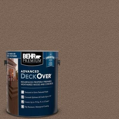 1 gal. #SC-148 Adobe Brown Textured Solid Color Exterior Wood and Concrete Coating