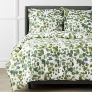 Legends Hotel Greenery Cotton and TENCEL Lyocell Multicolored Twin Sateen Comforter