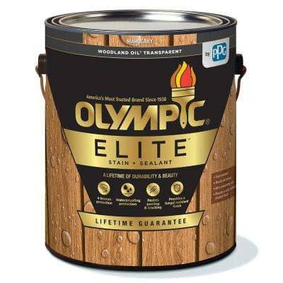 Elite 1 gal. Mahogany Woodland Oil Transparent Advanced Exterior Stain and Sealant in 1 Low VOC