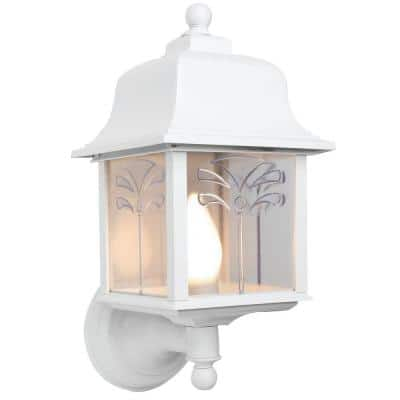 Palm White Outdoor Wall Lantern Sconce
