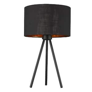 Morenci 21.75 in. 1-Light Matte Black Table Lamp