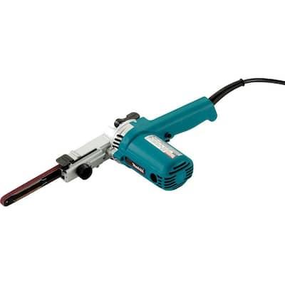 4.4 Amp 3/8 in. x 21 in. Corded Variable Speed Belt Sander with 80 Grit Abrasive Belt