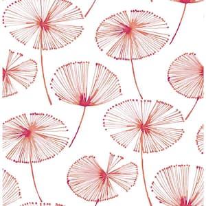 Paradise Pink Fronds Pink Wallpaper Sample