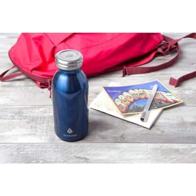 Retro 12 oz. Navy Double Wall Stainless Steel Bottle