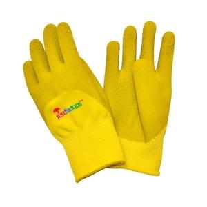 JustForKids Premium Yellow Green MicroFoam Texture Coating Kids All Purpose Gloves